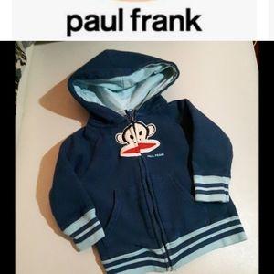 size 2T Paul Frank monkey hoodie sweater